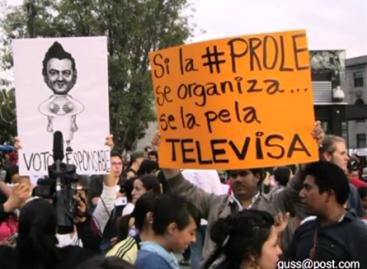 Miles de jóvenes protestan por manipulación de los medios de comunicación, convocados por el Movimiento 132