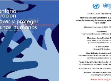 Foro permanente de abogados: La ONU- DH en México
