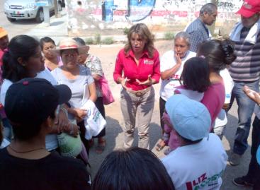 Sigue Liz Acosta comprometiéndose con el distrito 08 de la capital de Oaxaca