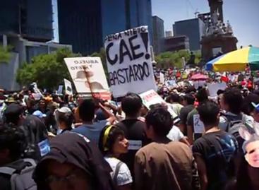 Marchan miles contra Peña Nieto, candidato del PRI a la presidencia de la República
