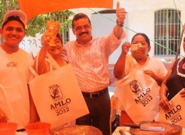 """Carol, candidato ganador"", expresan comerciantes en Salina Cruz"
