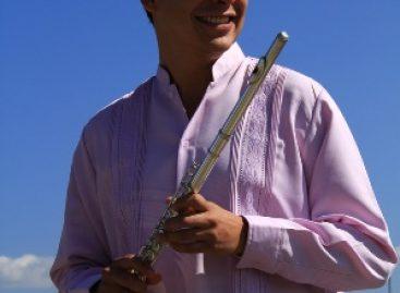 Presentará Andrick Arias concierto para flauta sola, en la Casa de la Cultura Oaxaqueña