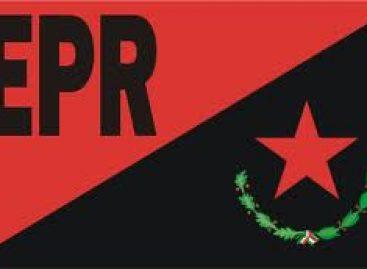 Emite comunicado de reconocimiento a la comisión de intermediación y advertencia el EPR