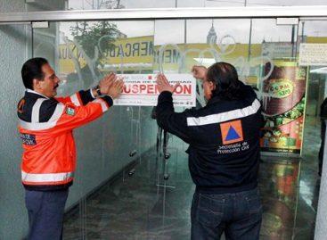 GDF suspende actividades en edificios catalogados de alto riesgo