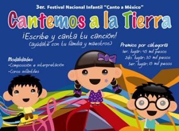 "Participarán más de 6 mil infantes en Festival ""Canto a México… Cantemos a la Tierra"""
