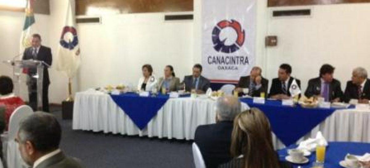 Gobierno y Canacintra suman esfuerzos en pro del sector industrial: Cué