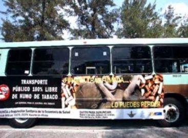 Promueve SSDF transporte público 100% libre del humo de tabaco