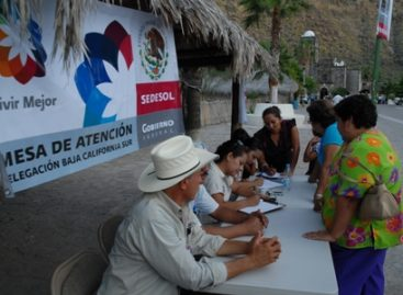 Otorga Sedesol ayuda a afectados por sequía y lluvias en BCS
