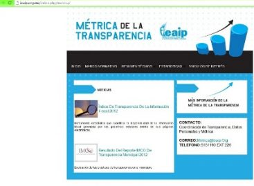 Evaluarán a sujetos obligados con Métrica de la Transparencia, a partir del 20 de agosto