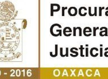 Abre Procuraduría diversas líneas en torno al homicidio del Síndico de Santa Cruz Xitla, Oaxaca