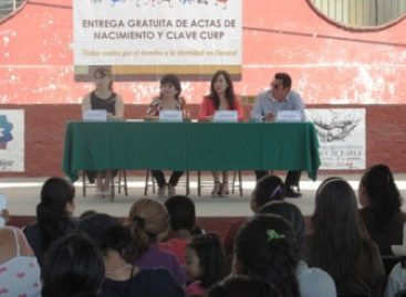 """""""Un Acta y Todos a la Escuela"""", programa gratuito de actas de nacimiento"""