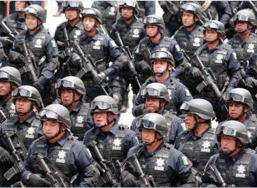 Dos mil 300 policías federales marcharon en el Desfile del la  Independencia de México