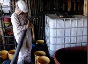 Asegura PF miles de litros de combustible y apresa a seis vinculados a la venta ilegal de hidrocarburo, en Sinaloa