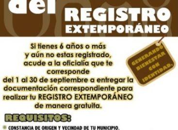 Lanza Registro Civil campaña gratuita de registro extemporáneo, en Oaxaca
