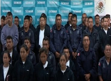 Asegura la Armada de México a 35 policías de la Secretaría de Seguridad Pública de Veracruz
