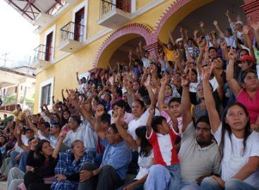 Realizan consulta comunitaria en Santiago Choapam; decidirán elección de autoridades y participación ciudadana
