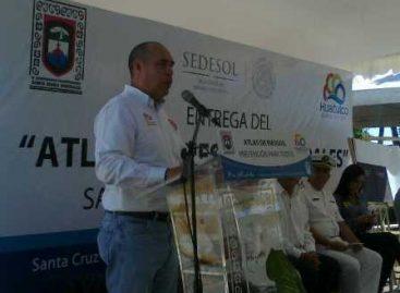 Entrega Protección Civil Atlas de Riesgo a autoridades y pobladores de Santa María Huatulco, Oaxaca