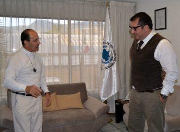 Visita sacerdote Alejandro Solalinde oficinas de la Defensoría de los Derechos Humanos de Oaxaca