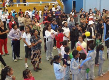 """Gran respuesta de la """"Feria de la actividad física"""" en Santa María Atzompa, Oaxaca"""