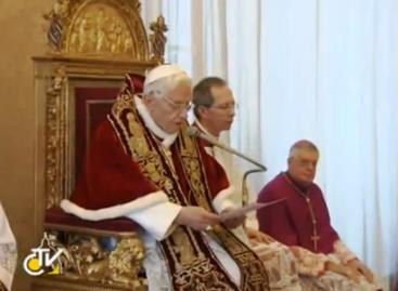 Renuncia al papado Benedicto XVI
