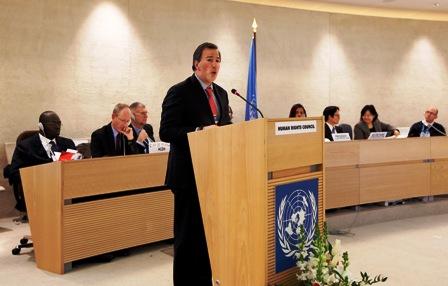 José Antonio Meade, en el Consejo de Derechos Humanos de la ONU.