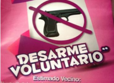 """Llega """"Por tu familia, desarme voluntario"""" a Cuajimalpa; se han canjeado tres mil 957 armas de fuego"""