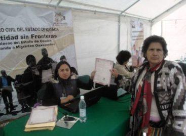 Beneficia Registro Civil a cuatro mil 400 oaxaqueños radicados en el DF y el Edomex