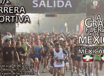 "Celebra Sedena Tercera Carrera Deportiva ""La Gran Fuerza de México"""
