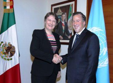 Titular de la SRE Meade recibe a la administradora del Programa de la ONU para el Desarrollo, Helen Clark