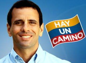 Mensaje de Henrique Capriles Radonski, positor al gobierno de Venezuela
