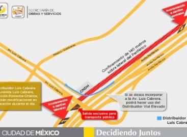 Confinarán 140 metros de lateral de periférico por trabajos de Autopista Urbana Poniente