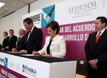En el combate al hambre no importan signos políticos; firma Sedesol y Puebla Acuerdo Integral