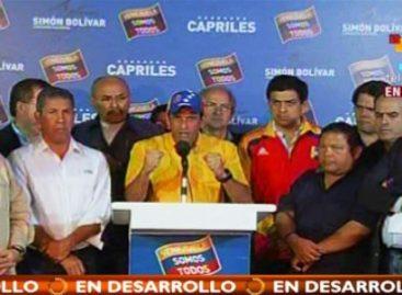 Candidato opositor venezolano no reconoce resultado emitido por el CNE