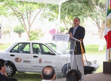 Entregan equipo, mobiliario y vehículos por 22 mdp para la lucha contra las adicciones, en Oaxaca
