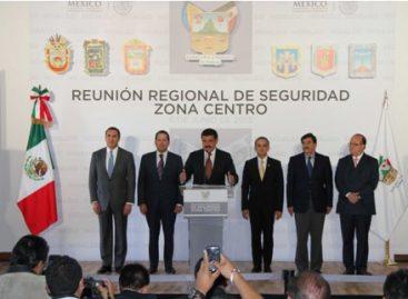 Acuerdan gobernadores de la zona centro del país formar grupo de trabajo para igualar tipo penal