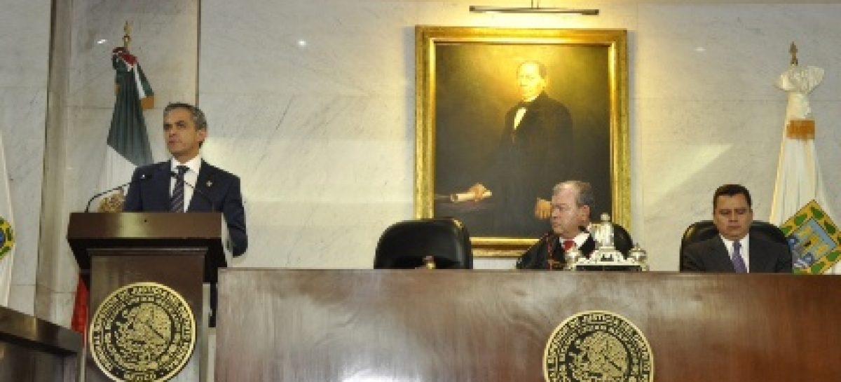 Avanzamos hacia la mejora del ejercicio de la justicia: Mancera Espinosa