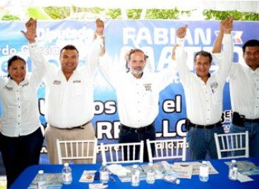 Fortalece Madero a los candidatos de la coalición PAN-PRD-PT en el Istmo de Oaxaca