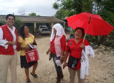 Recorren candidatos priistas agencias de Soledad Etla en busca del voto para el 7 de julio