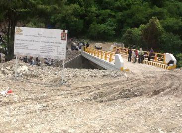 Construcción del puente del Río Ciruelo concreta acuerdo de paz entre Textitlán y Amoltepec