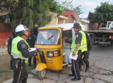 Aseguran cuatro mototaxis que carec?an de permiso para prestar servicio de pasaje en Oaxaca