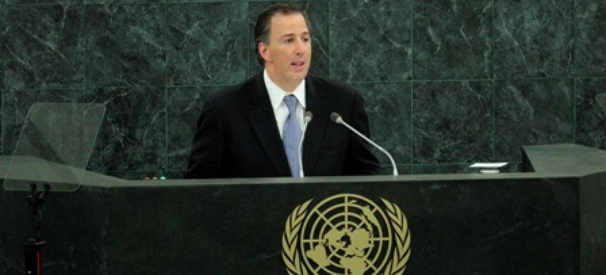 Ante la Asamblea General de la ONU, el Canciller Meade pugna por un Consejo de Seguridad transparente y eficaz