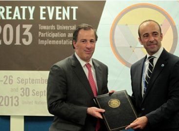 Deposita México en la ONU el instrumento de ratificación del Tratado sobre Comercio de Armas