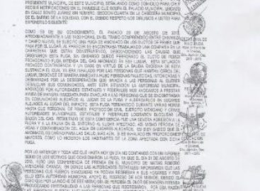 Piden intervenci?n de gobernador de Oaxaca por las afectaciones de la fuga de amoniaco en el Istmo