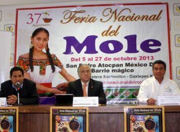 Lista la 37 Feria Nacional del Mole del 5 al 27 de octubre en Milpa Alta