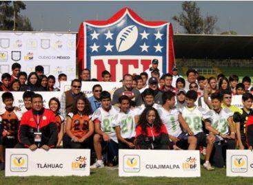 Participan más de mil 500 jóvenes en 1er Torneo de Tochito NFL en la Ciudad de México