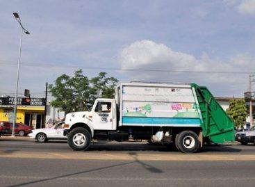Opera al cien por ciento el servicio de limpia en la capital de Oaxaca