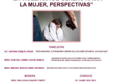 """Realizarán panel """"La violencia de género hacia la mujer, perspectivas"""", en Oaxaca"""