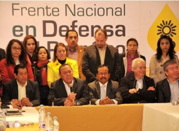 Anuncia PRD la creación de un frente nacional en defensa del petróleo