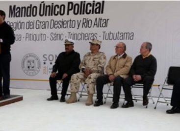 Abanderan Mando Único Policial en Sonora en el marco de la estrategia de seguridad