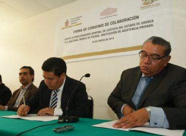 Signan Gobierno de Oaxaca y Nacional Monte de Piedad, convenio para evitar manejo de prendas robadas